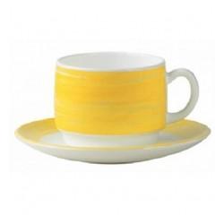 Filiżanka żółta Brush 190ml
