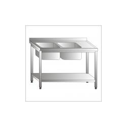 Stół ze zlewem 2-komorowym i półką 1600x700x850