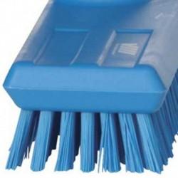 Szczotka twarda do mycia podłogi 270x65x100 mm, włos 25 mm niebieska