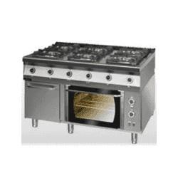 Kuchnia gazowa 6-palnikowa z piekarnikiem elektrycznym z termoobiegiem 900.KG-6/PE-1T/SD