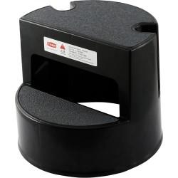 Taboret na kółkach 2-stopniowy czarny