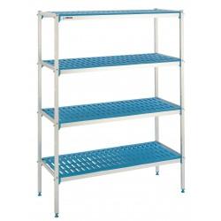 Regał aluminiowo-polietylenowy, 3-półkowy, 690x400x1750