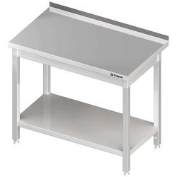 Stół przyścienny z półką 800x600x850 mm skręcany