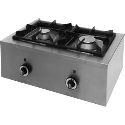 Kuchnia nastawna gazowa poprzeczna 2 palnikowa Modular 450x700 10,5kW - G20 (GZ50)