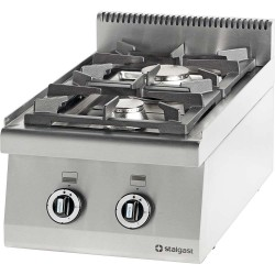 Kuchnia nastawna gazowa 2 palnikowa 400x700 10,5 kW - G20 (GZ50)