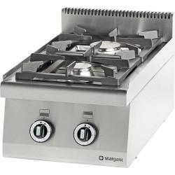 Kuchnia nastawna gazowa 2 palnikowa 400x700 10,5 kW - G30/31 (propan-butan)