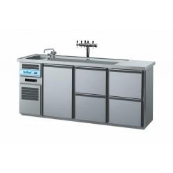 Barowy stół chłodniczy 1xdrzwi, 4x szuflady RILLING