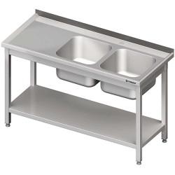 Stół ze zlewem 2-kom.(P),z półką 1200x600x850 mm skręcany