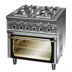Kuchnia gazowa 4 palnikowa z piekarnikiem eletrycznym