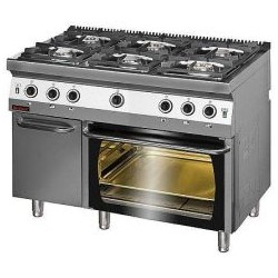 Kuchnia gazowa z piekarnikiem gazowym KG-6/PG-2/SD