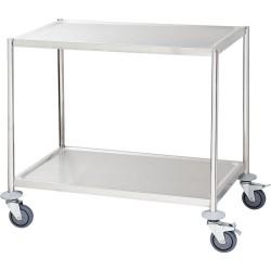 Wózek kelnerski 2-półkowy płaski bez rączek