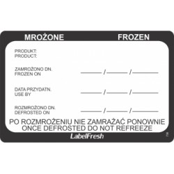 Etykieta LabelFresch Pro - 500 szt - Mrożenie/Frozen