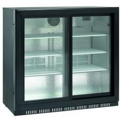 Barowa szafa chłodnicza, chłodziarka podblatowa SC 209SL, 207l drzwi przesuwne