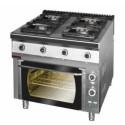 Kuchnia gazowa 4-palinkowa z piekarnikiem elektrycznym 900.KG/PE-1T