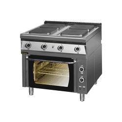 Kuchnia elektryczna 4-płytowa z piekarnikiem elektrycznym z termoobiegiem 900.KE-4/PE-1T