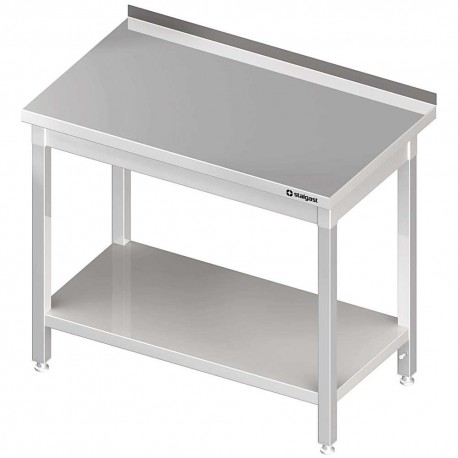 Stół przyścienny z półką 1800x600x850 mm skręcany