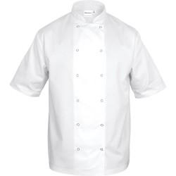 Bluza kucharska biała krótki rękaw L unisex