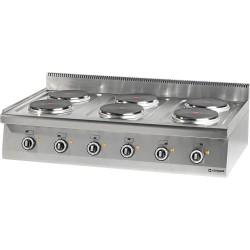 Kuchnia nastawna elektryczna 6 polowa 1200x700 15,6 kW