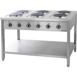 Kuchnia elektryczna wolnostojąca 6x2,5 kW