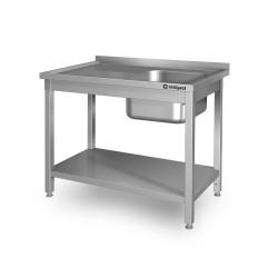 Stół ze zlewem 1-kom.(P),z półką 1000x600x850 mm spawany
