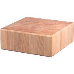 Kloc masarski drewniany 400x400x150 mm