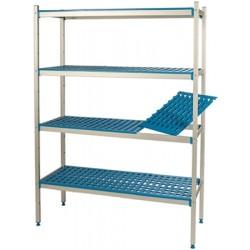 Regał aluminiowo-polietylenowy, 4-poziomowy, 670x400x1750