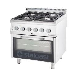 Kuchnia elektryczna 4 palnikowa wym. 800x700x850 z piekarnikiem elektrycznym 10,4+7kW (statyczny)